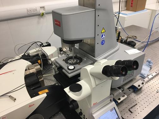 Confocal rheo-imaging setup